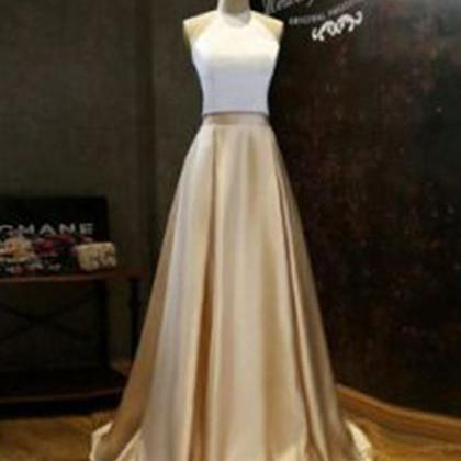 White Gold Prom Dresses, Prom Dress..