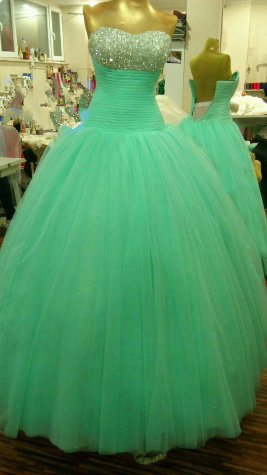 Prom Dresses,Long Prom Dress Ball Gown, Mint Green Prom Dresses,Long ...