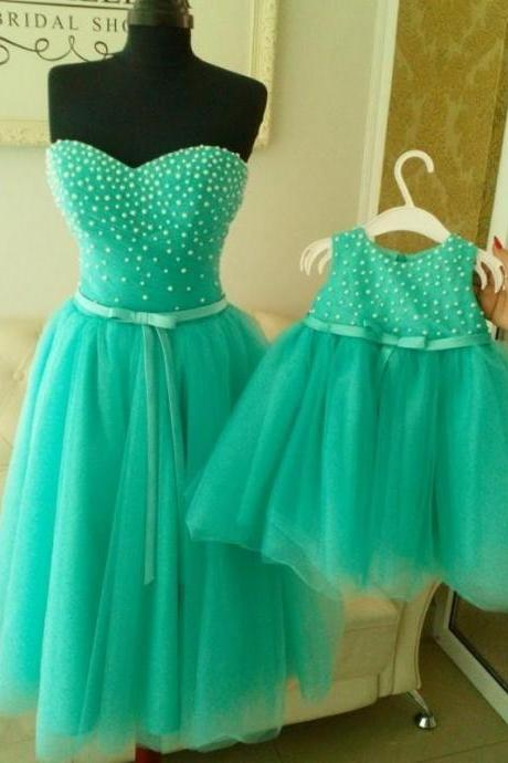 Flower Girl Dresses, Pageant Dresses for Girls , 2016 Mint Green Flower Girl Dress with Pearls, First Communion Dresses for Girls,Communion Dresses, flower girl dresses for weddings, girl pageant dress, Kids Prom Dresses,Pageant Dress,pageant dresses for juniors