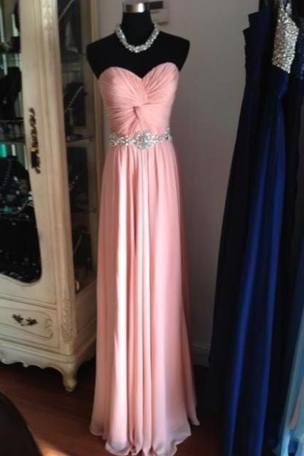 Prom Dresses,Sweetheart Prom Gowns,Long Prom Dresses Beaded,Pink Prom Dress,Backless Prom Dress,Prom Dresses 2017