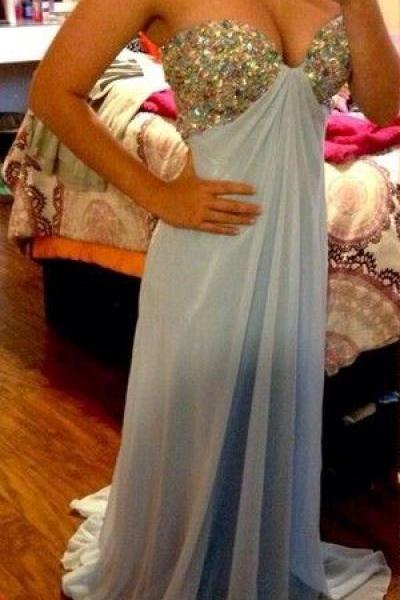 Prom Dresses,Sweetheart Prom Gowns,Long Prom Dresses Beaded,Baby Blue Prom Dress,Mermaid Prom Dress,Prom Dresses 2017