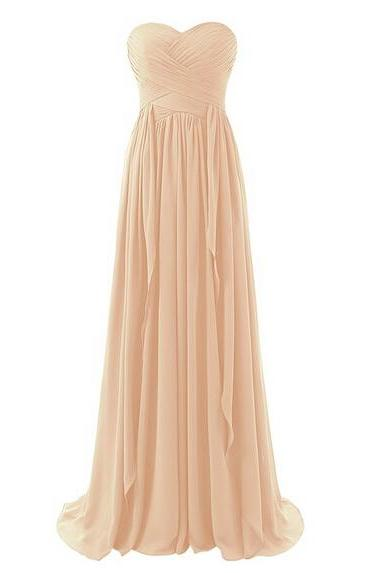 Bridesmaid Dress 2020, Peach Bridesmaids Dress, Sweetheart Bridesmaid Dresses, 2020 Bridesmaid Dress, Strapless Bridesmaid Dress,Wedding Party Dresses, Prom Dress, Plus Size Bridesmaid Dress, Sweetheart Prom Dress, Bridesmaid Dress Long, Custom Made